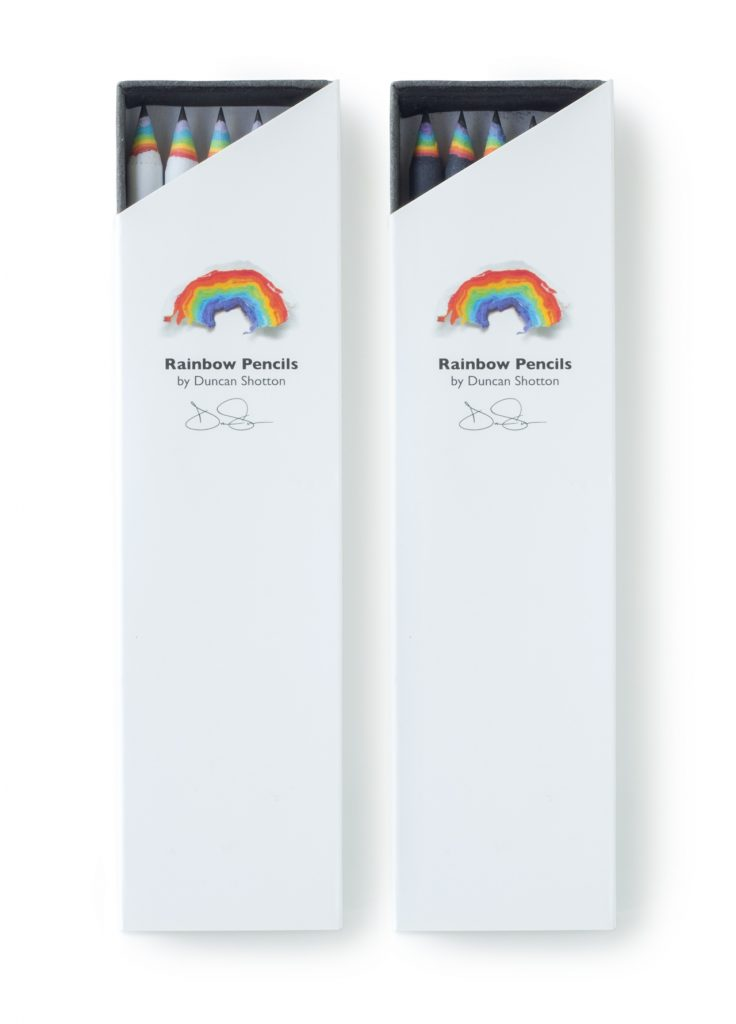 Genuine Rainbow Pencil boxes of 5 pencils, Black and White