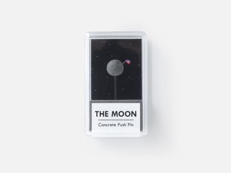 The Moon (concrete push-pin)