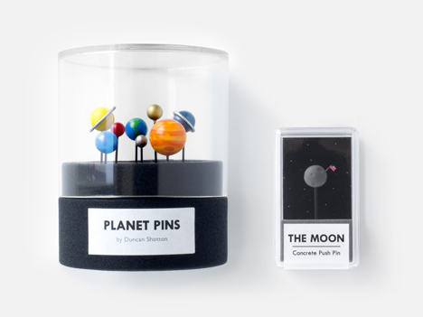 solar system push pins and moon push pin