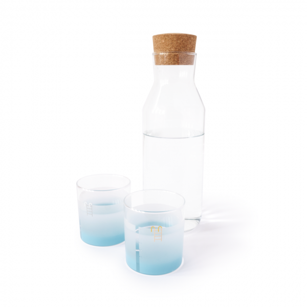 Pool Tumblers with carafe