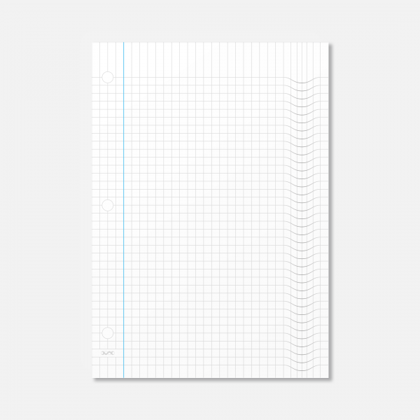 Pillow-pad graph jotter-page