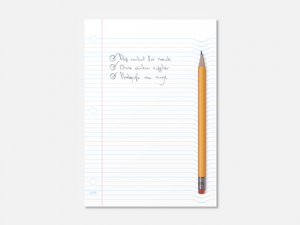 Pillow-pad notepads, Lined 1